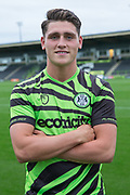 Mathew Stevens signs a contract with Forest Green Rovers at the New Lawn, Forest Green, United Kingdom on 26 July 2019.