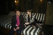 JUERGEN TELLER AND ANNA BLESSMANN, Frieze Cartier Dinner. Shoreditch House. London. 11 October 2007. -DO NOT ARCHIVE-© Copyright Photograph by Dafydd Jones. 248 Clapham Rd. London SW9 0PZ. Tel 0207 820 0771. www.dafjones.com.