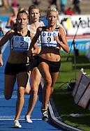 26.8.20112, Hiihtostadion, Lahti..Yleisurheilun Kalevan Kisat 2012. .Naisten 1500 m..Kaisa Tyni (9 - Haminan Ponteva), Suvi Selvenius (2 - Helsingin Kisa-Veikot) & Kristiina Mäki (3 - Lahden Ahkera).