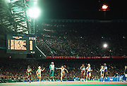CATHY FREEMAN CROSSES THE FINISH LINE 1ST TO WIN THE GOLD MEDAL IN THE WOMENS 400M FINAL AT THE SYDNEY OLYMPIC GAMES.                 <br /> Commissioned by Fairfax Media