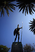 Achilles statue at The Achilleion Palace in Village of Gastouri (Sisi's beloved Greek summer palace), Corfu, Greece