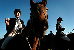 UK ENGLAND SURREY TILFORD 13NOV04 - Member of the foxhunting party Lesley Player toasts other hunsmen prior to their foxhunt in rural Surrey with the Surrey Hunters Union, founded in 1798. ....jre/Photo by Jiri Rezac ....© Jiri Rezac 2004....Contact: +44 (0) 7050 110 417..Mobile:  +44 (0) 7801 337 683..Office:  +44 (0) 20 8968 9635....Email:   jiri@jirirezac.com..Web:    www.jirirezac.com....© All images Jiri Rezac 2004 - All rights reserved.