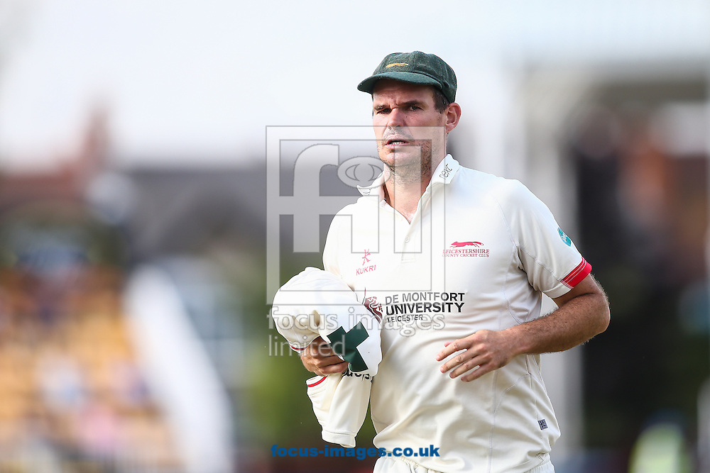 Clint McKay of Leicestershire during the Specsavers County C'ship Div Two match at the County Ground, Northampton<br /> Picture by Andy Kearns/Focus Images Ltd 0781 864 4264<br /> 14/08/2016
