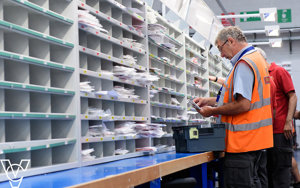 Royal Mail stock photography of mail redirection at Leicester South Delivery Office.<br /> <br /> Picture: Chris Vaughan Photography<br /> Date: July 7, 2017