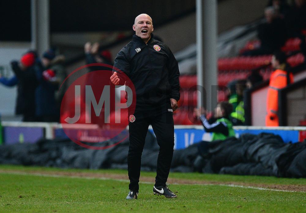 Walsall manager Jon Whitney celebrates his teams goal. - Mandatory by-line: Alex James/JMP - 21/01/2017 - FOOTBALL - Banks's Stadium - Walsall, England - Walsall v Bristol Rovers - Sky Bet League One