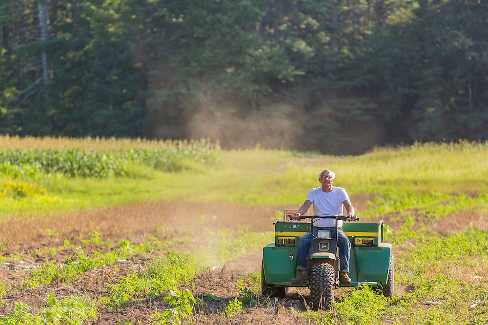 Lee Limperis working on his farm in Epping, New Hampshire.