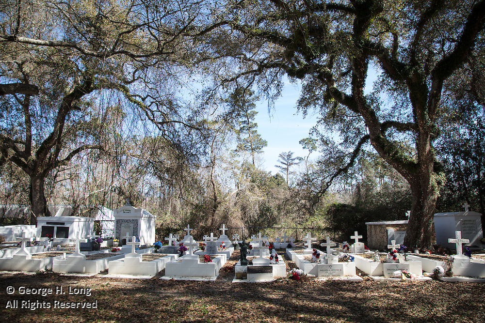 La Fontaine Cemetery in Lacombe, Louisiana