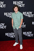 """AUSTIN ZAJUR attends the Los Angeles Screening of Fox Searchlight's """"Ready or Not"""" at ArcLight Culver City in Culver City, California."""