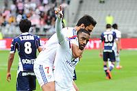 Joie Lyon - Clement GRENIER / Alexandre LACAZETTE - 02.05.2015 - Lyon / Evian Thonon - 35eme journee de Ligue 1<br />Photo : Jean Paul Thomas / Icon Sport