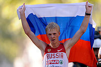 ATHLETICS - 20TH EUROPEAN ATHLETICS CHAMPIONSHIPS 2010 - BARCELONA (ESP) - 16/07 to 01/08/2010 - 27/07/10 - PHOTO : JULIEN CROSNIER / DPPI - 20KM WALK MEN - STANISLAV EMELYANOV (RUS) / WINNER