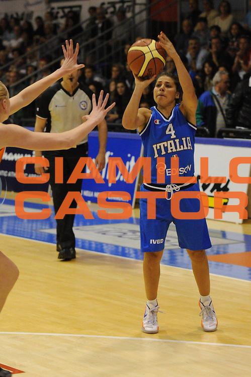 DESCRIZIONE : Pomezia Nazionale Italia Donne Torneo Citt&agrave; di Pomezia Italia Olanda<br /> GIOCATORE : marie d alie<br /> CATEGORIA : tiro<br /> SQUADRA : Italia Nazionale Donne Femminile<br /> EVENTO : Torneo Citt&agrave; di Pomezia<br /> GARA : Italia Olanda<br /> DATA : 26/05/2012 <br /> SPORT : Pallacanestro<br /> AUTORE : Agenzia Ciamillo-Castoria/GiulioCiamillo<br /> Galleria : FIP Nazionali 2012<br /> Fotonotizia : Pomezia Nazionale Italia Donne Torneo Citt&agrave; di Pomezia Italia Olanda
