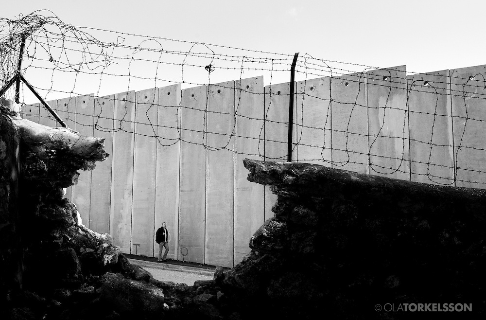 The wall in Abu Dis, West Bank.<br /> Photos from the building of the israel so called security barrier that cuts through the Palestinian village of Abu Dis.