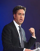 © Licensed to London News Pictures. 11/12/2014. London, UK Ed Miliband, Leader of the Labour Party gives a speech about his plans for the economy at the Institute of Charted Accountants. Photo credit : Stephen Simpson/LNP