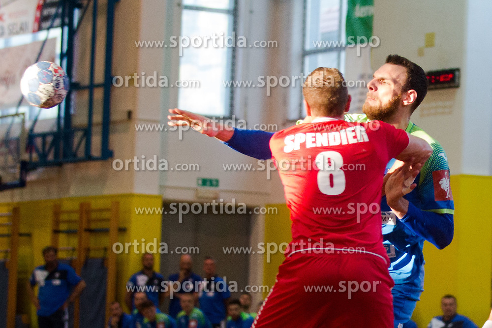 Borut Macek vs Sebastian Spendier during friendly match between Slovenia and Austria in Cerklje na Gorenjskem, Slovenia on 8th of June, 2019 .Photo by Peter Podobnik / Sportida