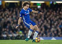 Football - 2016/2017 Premier League - Chelsea V Tottenham Hotspur<br /> <br /> David Luiz of Chelsea at Stamford Bridge.<br /> <br /> COLORSPORT/DANIEL BEARHAM