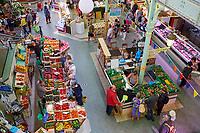 France, Vendée (85), Les Sables-d'Olonne, marché des halles centrales de style Pavillon Baltard // France, Vendée, Les Sables-d'Olonne, central market