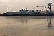 """Saint Nazaire, 29/10/2014:""""Sebastopol"""" portaerei russa in costruzione nei cantieri navali della XTC - Russian aircraft carrier built in the shipyards"""