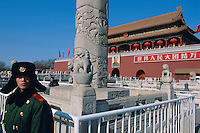 China. Beijing. Tiananmen Square. Tiananmen gate. Cité interdite. // Chine. Pekin. Place et porte Tiananmen. Forbiden city.