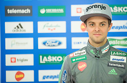 Tomaz Naglic during official presentation of the outfits of the Slovenian Ski Teams before new season 2015/16, on October 6, 2015 in Kulinarika Jezersek, Sora, Slovenia. Photo by Vid Ponikvar / Sportida