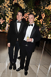 Left to right, RICHARD DENNEN and The HON.CHARLES ASTOR at a dinner and dance hosted by Leon Max for the charity Too Many Women in support of Breakthrough Breast Cancer held at Claridges, Brook Street, London on 1st December 2011.