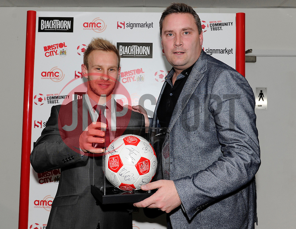 man of the match presentations - Photo mandatory by-line: Dougie Allward/JMP - Tel: Mobile: 07966 386802 01/03/2014 - SPORT - FOOTBALL - Bristol - Ashton Gate - Bristol City v Gillingham - Sky Bet League One