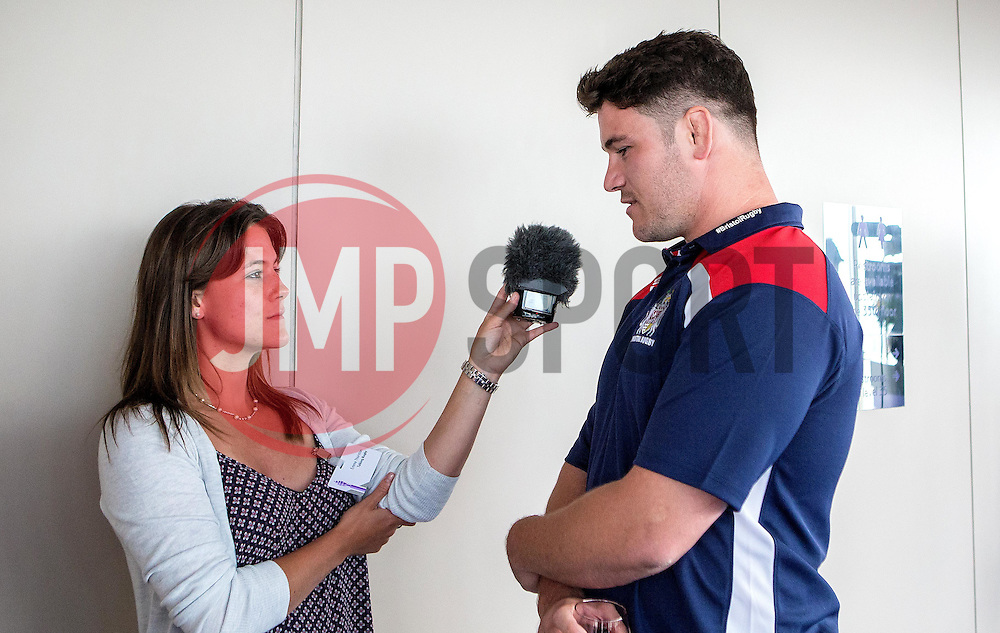 Marc Jones of Bristol Rugby is interviewed at the Aviva Premiership fixture launch - Mandatory by-line: Robbie Stephenson/JMP - 07/07/2016 - RUGBY - BT Tower - London, United Kingdom  - Aviva Premiership Fixture Launch