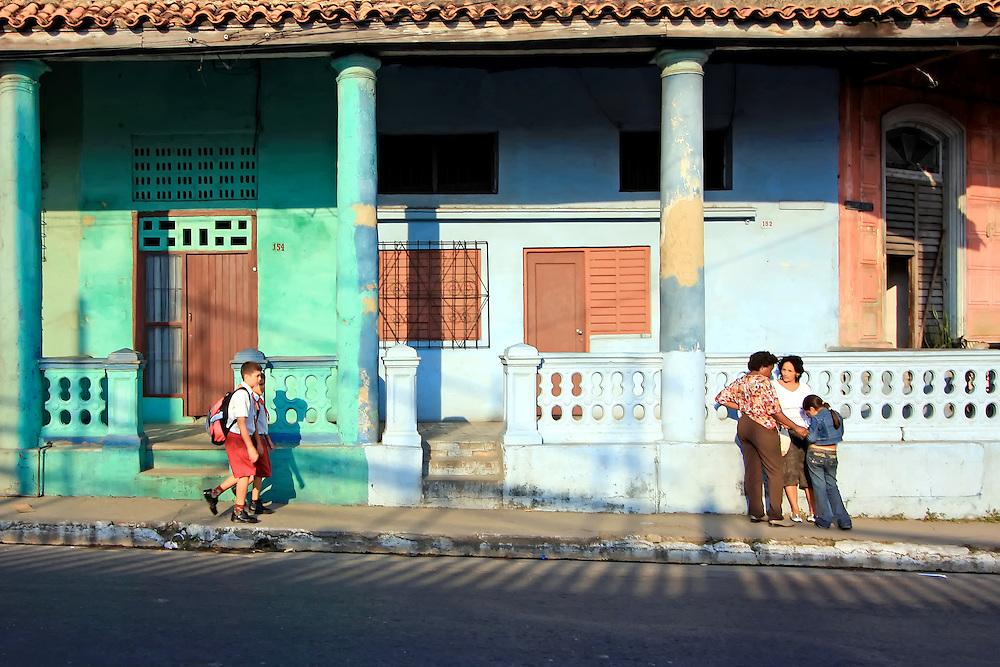 Women and children in the street, Pinar del Rio, Cuba.