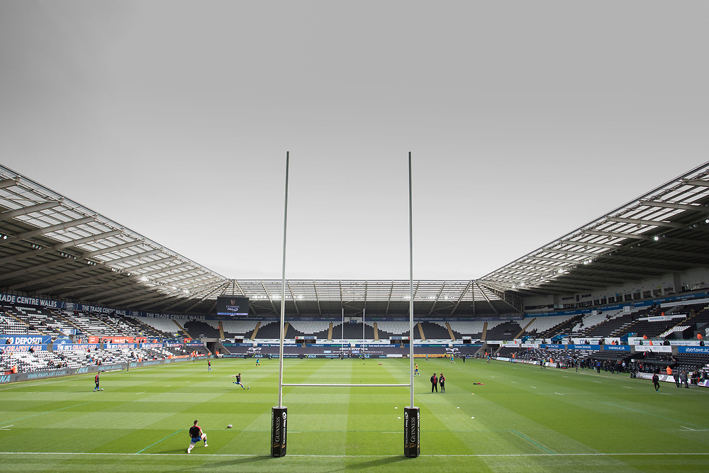 A general view of Liberty Stadium, home of Ospreys<br /> <br /> Photographer Simon King/Replay Images<br /> <br /> Guinness PRO14 Round 18 - Ospreys v Dragons - Saturday 23rd March 2019 - Liberty Stadium - Swansea<br /> <br /> World Copyright © Replay Images . All rights reserved. info@replayimages.co.uk - http://replayimages.co.uk