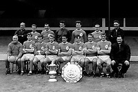 Fotball<br /> Liverpool<br /> Foto: Colorsport/Digitalsport<br /> NORWAY ONLY<br /> <br /> Liverpool  Football Club1965/66.FA Cup Winners 1966 and FA Charity Shield winners. Back row : L to R. R.Bennett (coach), Gordon Milne, Gerry Byrne, Tommy Lawrence, Chris Lawler, Ian St.John, Joe Fagan (trainer). Front row : Bill Shankly (Manager) Geoff Strong, Ian Callaghan, Roger Hunt, Ron Yeats, Tommy Smith, Peter Thompson, Willie Stevenson, Bob Paisley (trainer).