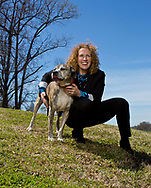 Stand For Animals Cary Bernstein and her dog photographed for Charlotte Magazine.