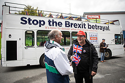 "© Licensed to London News Pictures . 22/09/2018. Bolton, UK. Pro Brexit campaign group Leave Means Leave host a "" Save Brexit "" and "" Chuck Chequers "" rally at the University of Bolton Stadium , attended by leave-supporting politicians from a cross section of parties , including Conservative David Davis , former UKIP leader Nigel Farage and Labour's Kate Hoey . Photo credit: Joel Goodman/LNP"