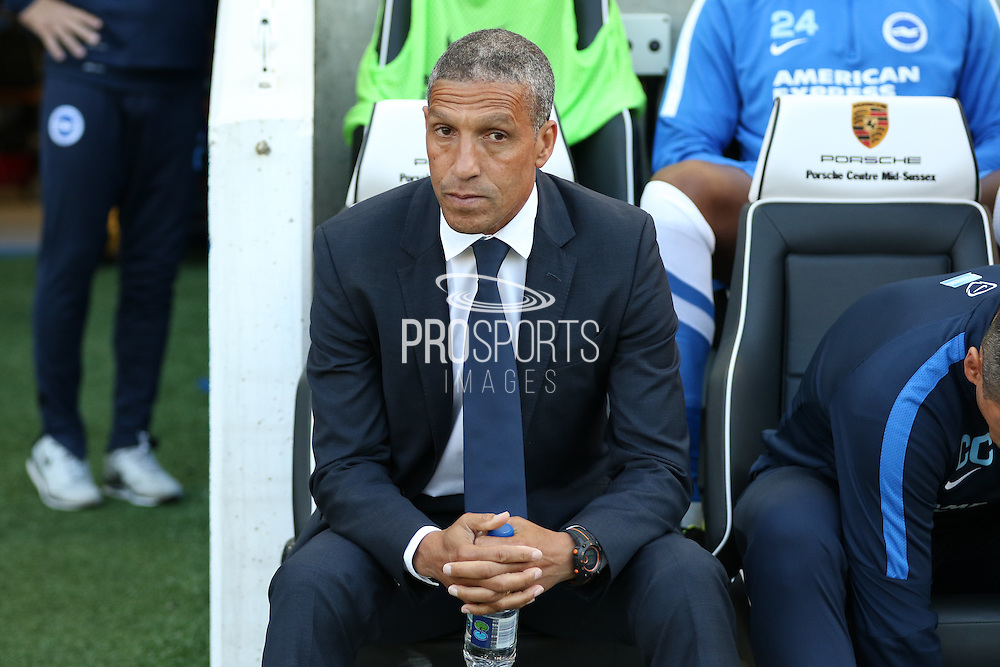 Chris Hughton Manager of Brighton & Hove Albion during the Sky Bet Championship match between Brighton and Hove Albion and Nottingham Forest at The American Express Community Stadium, Brighton and Hove, England on 7 August 2015. Photo by Phil Duncan.