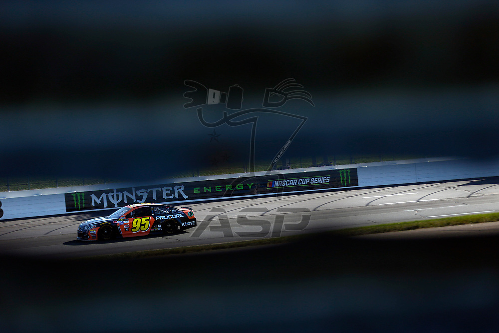 September 23, 2017 - Loudon, New Hampshire, USA: Michael McDowell (95) takes to the track to practice for the ISM Connect 300 at New Hampshire Motor Speedway in Loudon, New Hampshire.