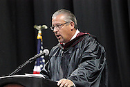 Superintendent Mark O. North congratulates the new grads during the 142nd annual Lebanon High School commencement at the Nutter Center in Fairborn, Saturday, May 26, 2012.