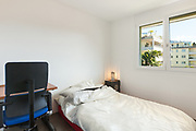Architecture, nice apartment furnished,  bedroom with window