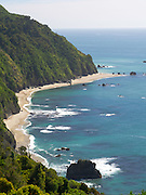Afternoon, high-angle view of Knights Point, Haast Highway, West Coast, New Zealand