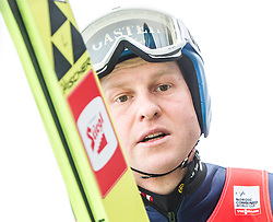 17.01.2014, Casino Arena, Seefeld, AUT, FIS Nordische Kombination, Seefeld Triple, Skisprung, im Bild Bernhard Gruber (AUT) // Bernhard Gruber (AUT) during Ski Jumping at FIS Nordic Combined World Cup Triple at the Casino Arena in Seefeld, Austria on 2014/01/17. EXPA Pictures © <br /> 2014, PhotoCredit: EXPA/ JFK