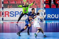 Michael Guigou of France during handball match between National teams of Belarus and France on Day 4 in Preliminary Round of Men's EHF EURO 2018, on January 16, 2018 in Arena Zatika, Porec, Croatia. Photo by Ziga Zupan / Sportida