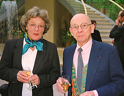 French artist IPOUSTEGUY and his wife MRS JEAN ROBERT IPOUSTEGUY, at an exhibition in London on 22nd April 1999.MRH 9