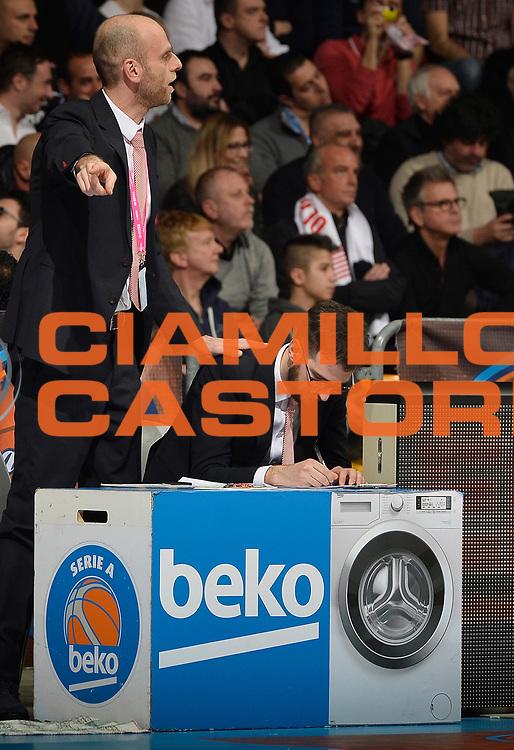 DESCRIZIONE : Final Eight Coppa Italia 2015 Finale Olimpia EA7 Emporio Armani Milano - Dinamo Banco di Sardegna Sassari<br /> GIOCATORE : Massimo Cancellieri<br /> CATEGORIA : allenatore coach<br /> SQUADRA : EA7 Emporio Armani Olimpia MIlano<br /> EVENTO : Final Eight Coppa Italia 2015<br /> GARA : Olimpia EA7 Emporio Armani Milano - Dinamo Banco di Sardegna Sassari<br /> DATA : 22/02/2015<br /> SPORT : Pallacanestro <br /> AUTORE : Agenzia Ciamillo-Castoria/R.Morgano<br /> GALLERIA : Lega Basket A 2014-2015<br /> FOTONOTIZIA : Final Eight Coppa Italia 2015 Finale Olimpia EA7 Emporio Armani Milano - Dinamo Banco di Sardegna Sassari<br /> PREDEFINITA :