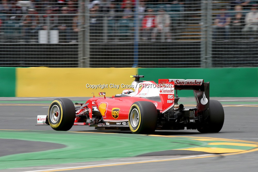 Kimi Räikkönen (Scuderia Ferrari). 2016 Formula 1 Rolex Australian Grand Prix. Albert Park, Melbourne 17-20 March 2016. Photo: Clay Cross / photosport.nz