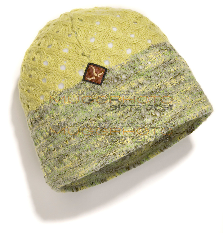 yellow and green beanie by prana