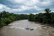 The HAw River in Saxapahaw, NC.