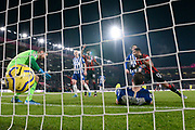 Caption correction - Goal - Pascal Gross (13) of Brighton and Hove Albion scores an own goal to give a 2-0 lead during the Premier League match between Bournemouth and Brighton and Hove Albion at the Vitality Stadium, Bournemouth, England on 21 January 2020.