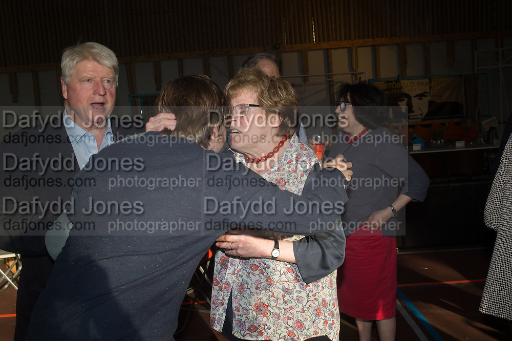 LUDO DAWNAY; STANLEY JOHNSON; CHARLOTTE JOHNSON WAHL, Rachel Johnson book launch of Fresh Hell, Acklam Village Market, Acklam Rd. London W10.