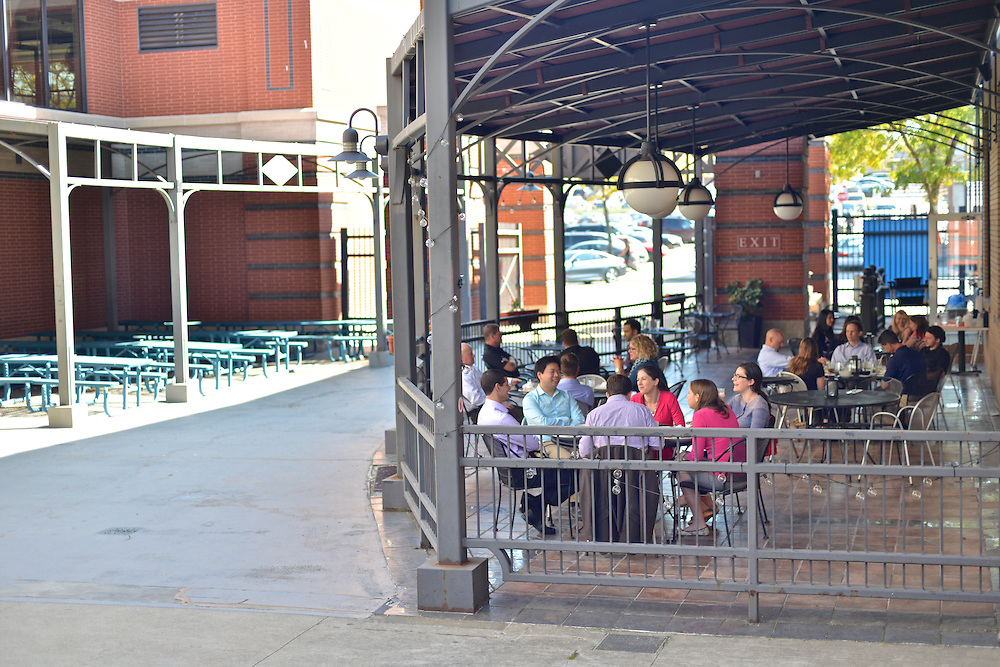 Outdoor patio at Cilantro Thai & Sushi Restaurant.