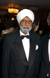 JUDGE MOTA SINGH the first Sikh judge in the United Kingdom at the 10th Anniversary Asian Business Awards 2006 at the London Grosvenor Hotel Park Lane, London on 19th April 2006.<br />