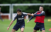 Dundee new boy Sofien Moussa and Randy Wolters during Dundee FC training at Michelin Grounds, Dundee, Photo: David Young<br /> <br />  - &copy; David Young - www.davidyoungphoto.co.uk - email: davidyoungphoto@gmail.com