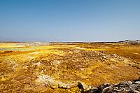 Sulfur lake, Danakil Depression, Ethiopia.