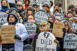 March 11, 2017 - Brooklyn, NY, United States - The Activist group #GetOrganizedBK held a rally and DIE-IN on March 11, 2017 at the Brooklyn Borough Hall steps and plaza in defense of the Affordable Care Act, also known as Obamacare after the GOP released their bill to gut the ACA, putting many Americans at serious health risks if the ACA is repealed or replaced with their plan. New York Elected Officials expressed their support and joined the DIE-IN. (Credit Image: © Erik Mcgregor/Pacific Press via ZUMA Wire)